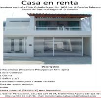 Foto de casa en renta en misael de la cruz, costa real, paraíso, tabasco, 1706280 no 01