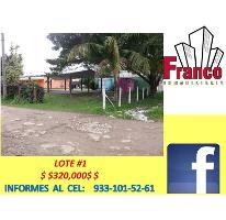Foto de terreno habitacional en venta en  nonumber, morelos, comalcalco, tabasco, 2682450 No. 01