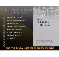 Foto de nave industrial en renta en  , parque industrial el marqués, el marqués, querétaro, 2860323 No. 01