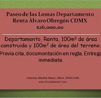 Foto de departamento en renta en, paseo de las lomas, álvaro obregón, df, 1089473 no 01