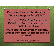Foto de terreno habitacional en venta en, pasteros, azcapotzalco, df, 2236222 no 01
