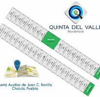 Foto de terreno habitacional en venta en quinta del valle 1, san mateo cuanala, juan c. bonilla, puebla, 4201398 No. 01