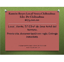 Foto de local en venta en  , ramón reyes, chihuahua, chihuahua, 1816222 No. 01