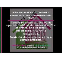 Foto de terreno habitacional en venta en, rancho san francisco pueblo san bartolo ameyalco, álvaro obregón, df, 1976444 no 01