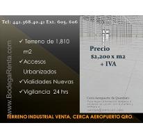 Foto de terreno industrial en venta en  , san isidro miranda, el marqués, querétaro, 2834545 No. 01