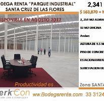 Foto de nave industrial en renta en  , santa cruz de las flores, tlajomulco de zúñiga, jalisco, 3329474 No. 01