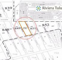 Foto de terreno habitacional en venta en, tulum centro, tulum, quintana roo, 1858110 no 01