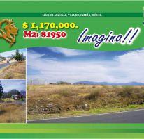 Foto de terreno habitacional en venta en, villa del carbón, villa del carbón, estado de méxico, 2114190 no 01