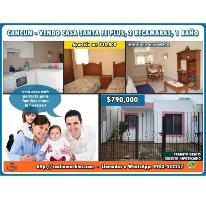 Foto de casa en venta en  whatsapp 9983-442257, santa fe plus, benito juárez, quintana roo, 2673844 No. 01