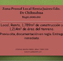 Foto de local en renta en  , zona pronaf, juárez, chihuahua, 2587854 No. 01