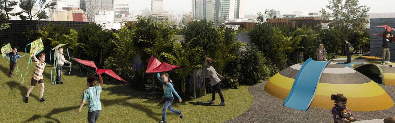 Sennse garden polanco , id 7567317, jardín y área de juegos, 913