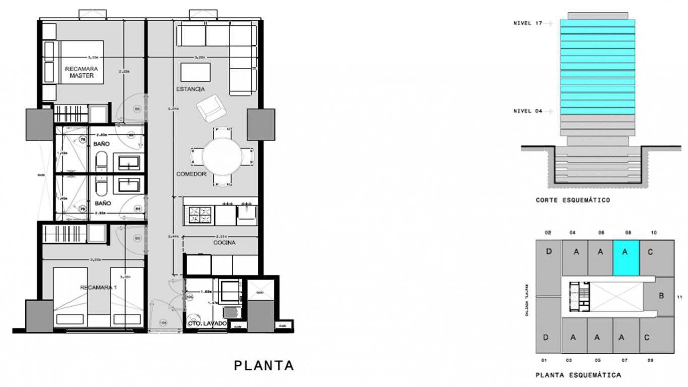 Capitolio residencial nuevo coyoacan, id 1659155, no 1, plano de a708, 549