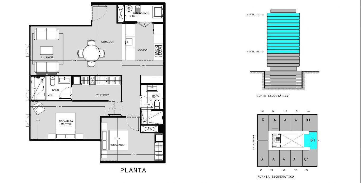 Capitolio residencial nuevo coyoacan, id 1659155, no 1, plano de b1211, 543