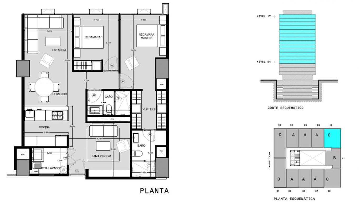 Capitolio residencial nuevo coyoacan, id 1659155, no 1, plano de c1010, 553