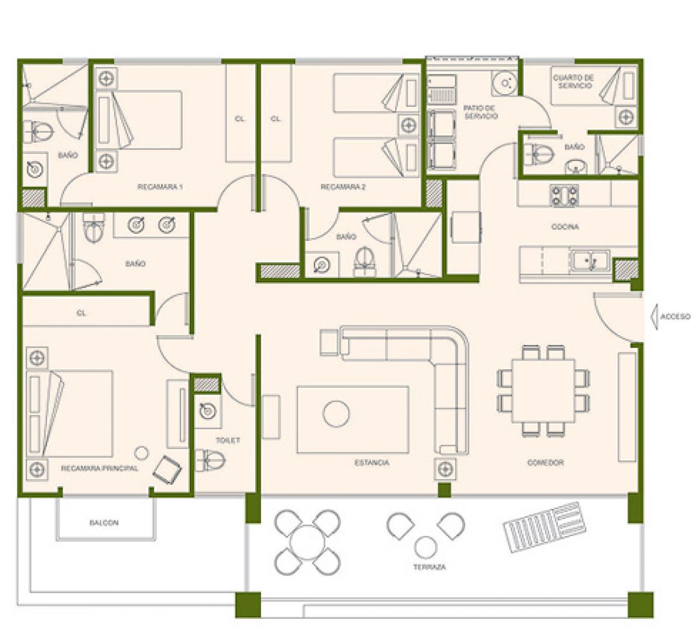 Residencial paraíso country club, id 1525184, no 1, plano de eagle, 409