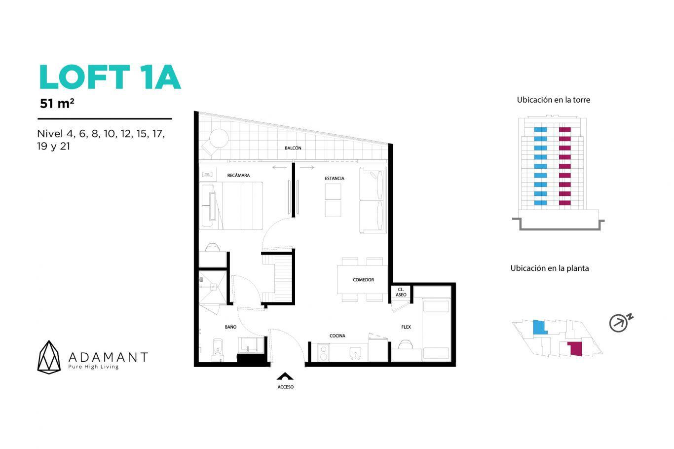 Adamant tijuana, id 1656034, no 1, plano de loft 1a, 520
