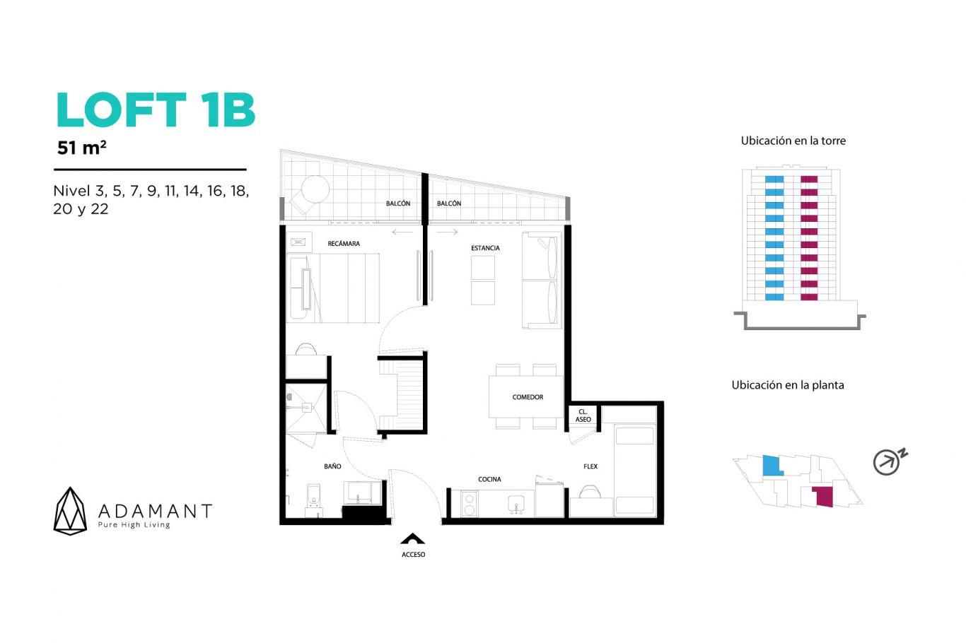 Adamant tijuana, id 1656034, no 1, plano de loft 1b, 518