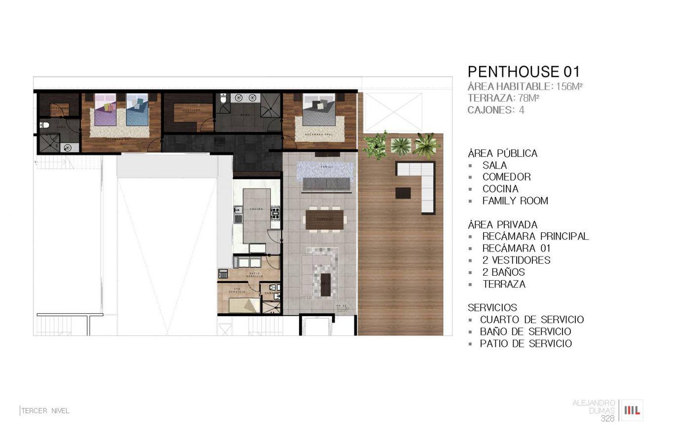 Dumas 328, id 2364171, no 1, plano de penthouse 1, 777