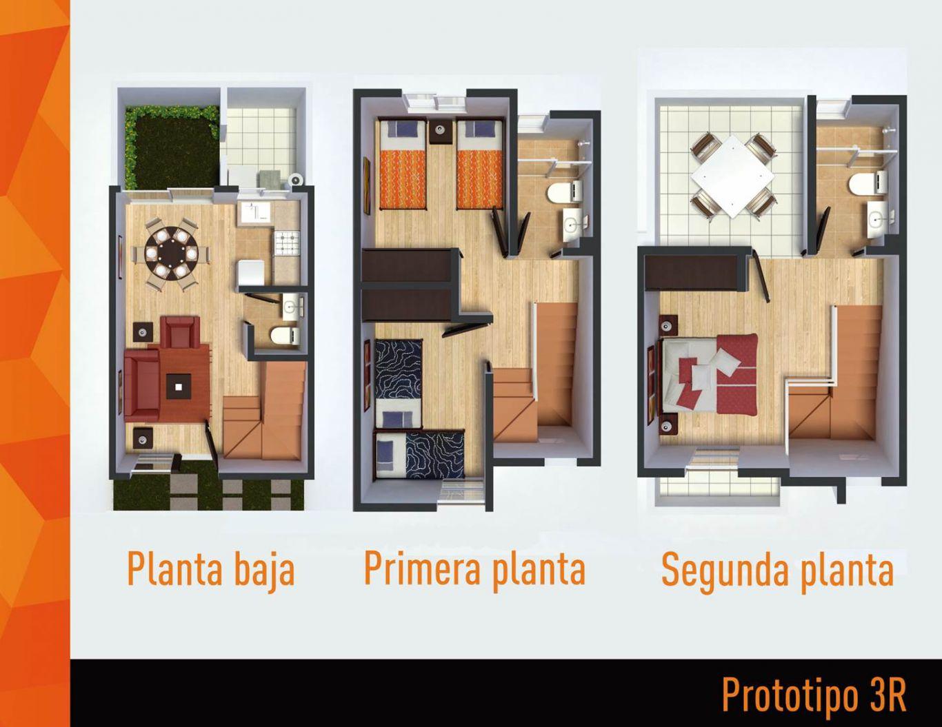 Villas terra , id 1521779, no 1, plano de prototipo 3r, 399