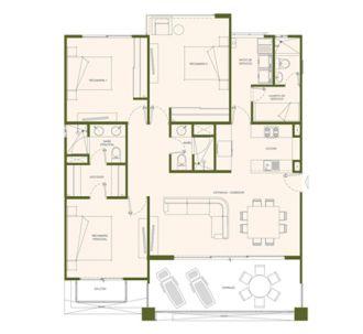 Residencial paraíso country club, id 1525184, no 1, plano de birdie, 402