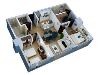 Residencial altezza central, id 6687131, no 1, plano de departamento 77m2, 1917
