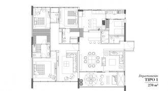 Club residencial bosques, id 1472095, no 1, plano de departamento tipo 1, 5