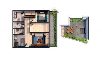 Mitla 390, id 9346365, no 1, plano de garden house 101, 3133