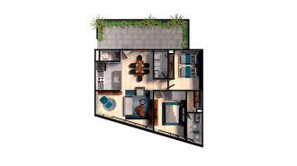 Mitla 390, id 9346365, no 1, plano de garden house 103, 3141