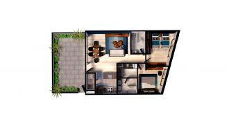 Mitla 390, id 9346365, no 1, plano de garden house 105, 3149