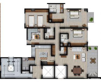 Id vertical bellavista, id 4257927, no 1, plano de piso tipo elite a, 1210