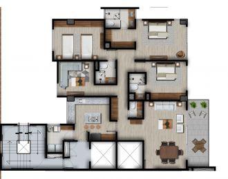Id vertical bellavista, id 4257927, no 1, plano de piso tipo elite b, 1211