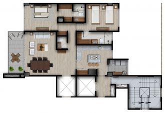Id vertical bellavista, id 4257927, no 1, plano de piso tipo master a, 1212